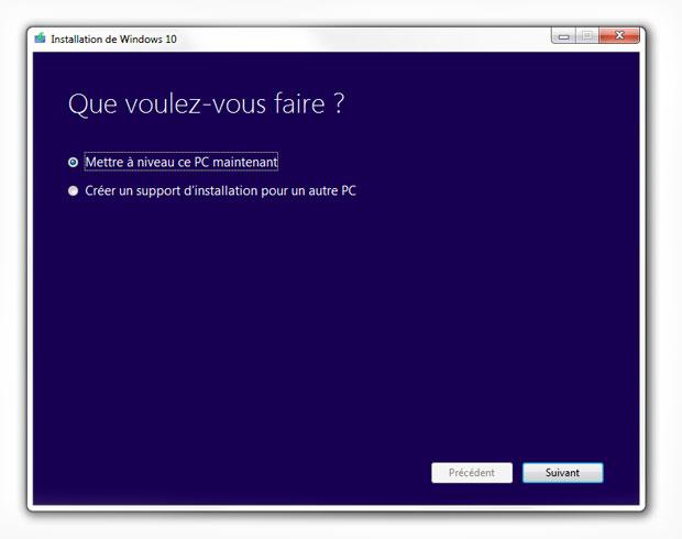Forcer la mise à jour vers Windows10