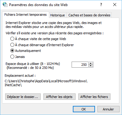 Fichiers internet temporaires 2