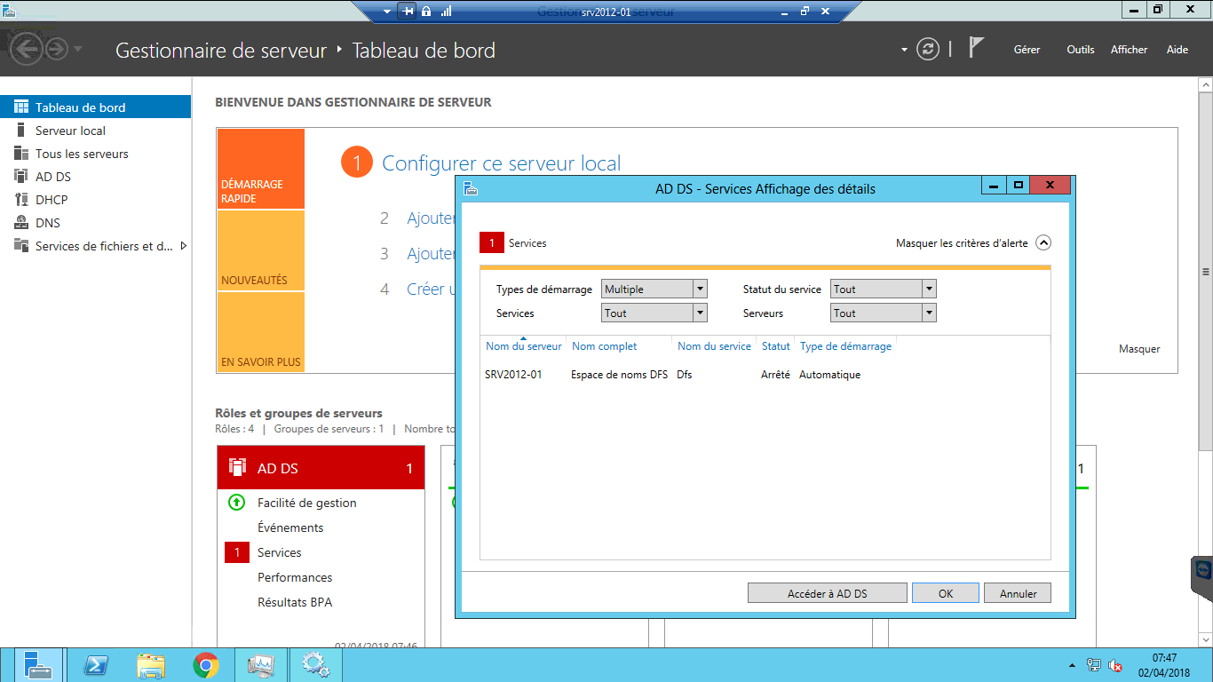 Windows 2012 RC2 - Espace de noms DFS