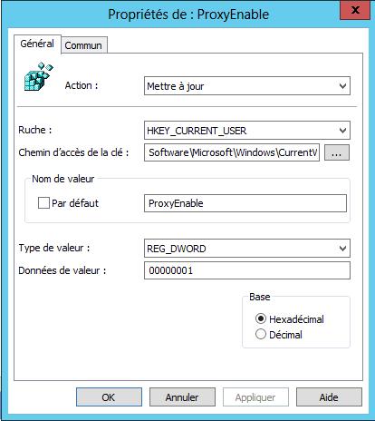 GPO – Déclarer le proxy dans Internet Explorer