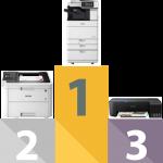 Coût à la page d'une imprimante jet d'encre, laser, photocopieur et photocopieur à jet d'encre