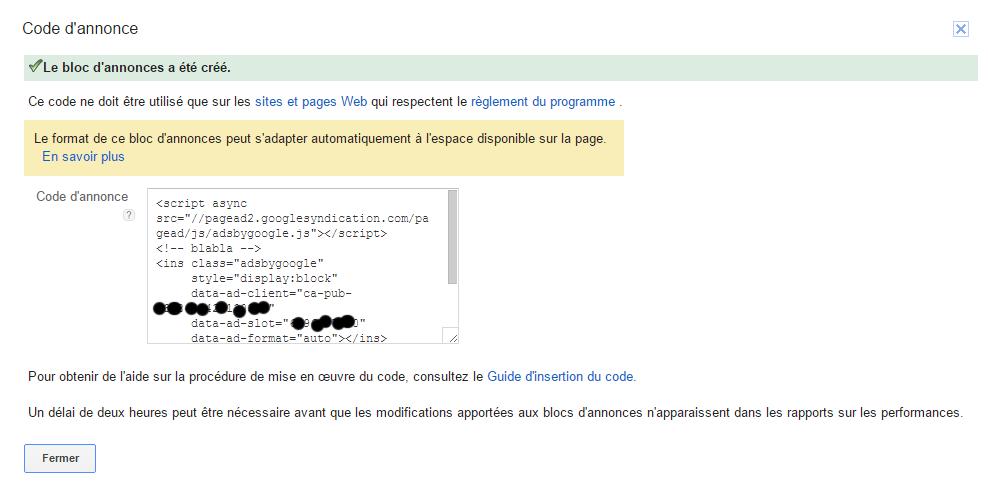 code adsense